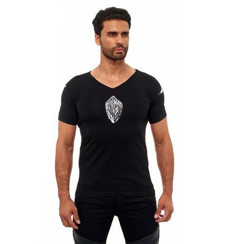 KINGZ T-Shirt mit ausgefallenem Adler-Print