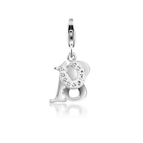 Nenalina Charm-Einhänger »18 Hufeisen Glück Kristalle 925 Silber«