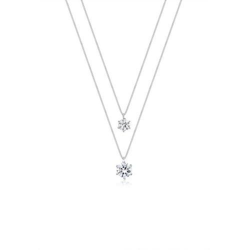 Elli Gliederkette »Layer Kristalle rund 925 Silber«