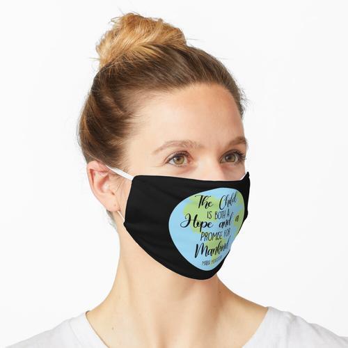 Montessori Zitat Maske