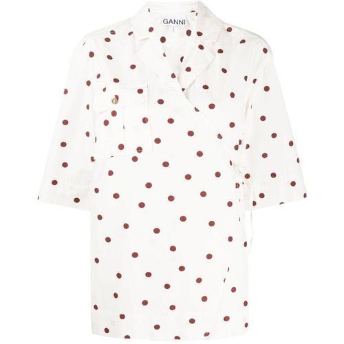 Ganni Gepunktetes Hemd