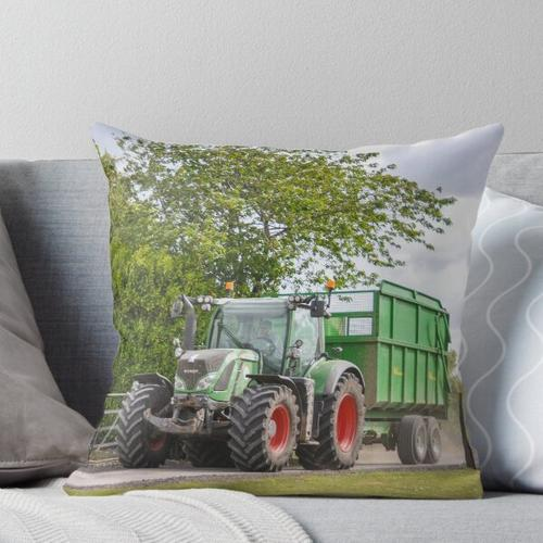 Fendt Carting Silage Throw Pillow