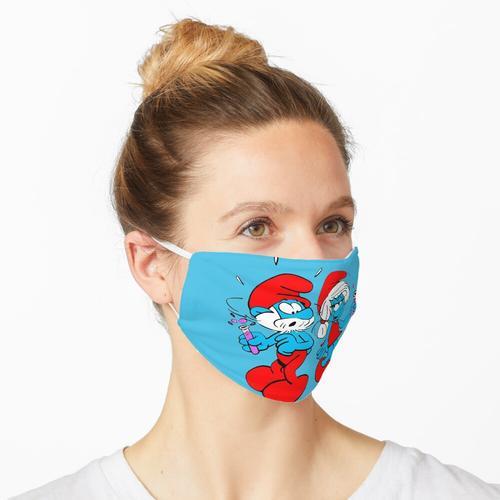 Papa Schlumpf und Schlumpfine - Schlümpfe Maske