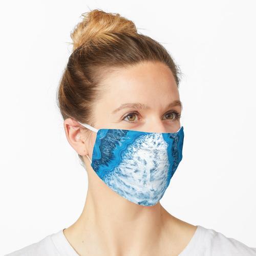 Kristallsäule blauer Achat 3193 Maske