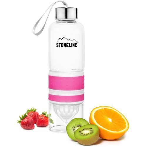 STONELINE Trinkflasche, (Set, 1 tlg.), herausnehmbarer Saftpressen-Aufsatz, 0,55 L rosa Aufbewahrung Küchenhelfer Haushaltswaren Trinkflasche