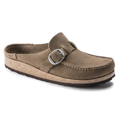 BIRKENSTOCK Buckley Suede Leather Gray Taupe Clogs
