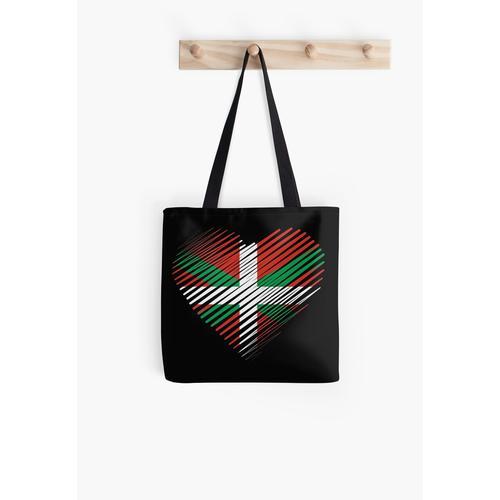 Stolz darauf, baskisch, herzbaskisch, Euskadi, Euskal Herria, baskische Flagge, Stolz zu sein Tasche