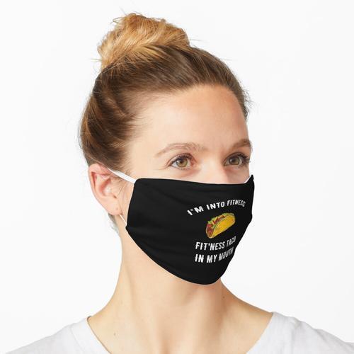 Ich bin in Fitness Fitness Taco in meinem Mund Maske