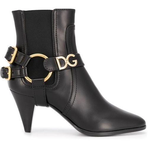 Dolce & Gabbana Stiefel mit doppelter Schnalle