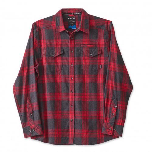 KAVU - Lorenzo - Hemd Gr S rot/schwarz