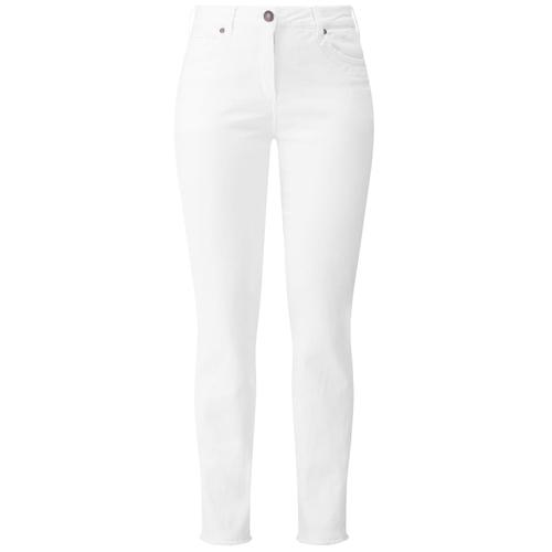 Jeans mit Stickerei RECOVER Pants weiß