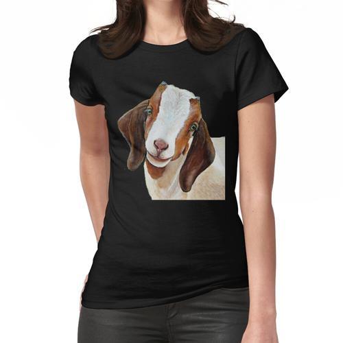Zwergziege - Zwergziege Malerei - Ziege - Ziege Malerei - Zwergziege Shirt - Ziege Ge Frauen T-Shirt