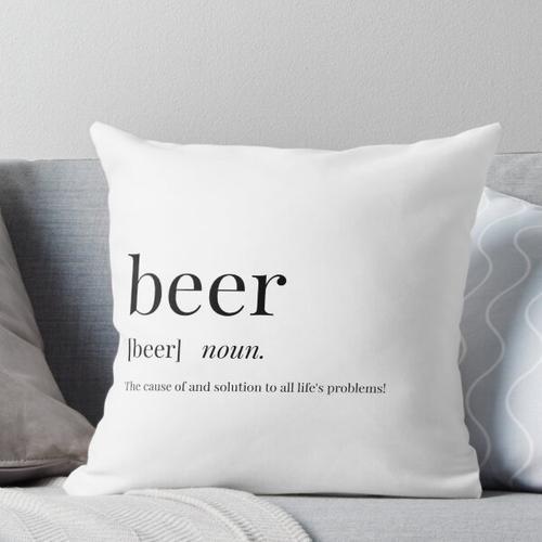 Bierbeschreibung Kissen
