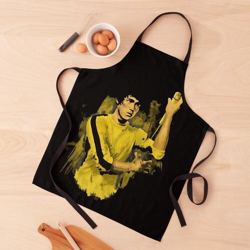 Bruce Lee gelber Anzug Schürze