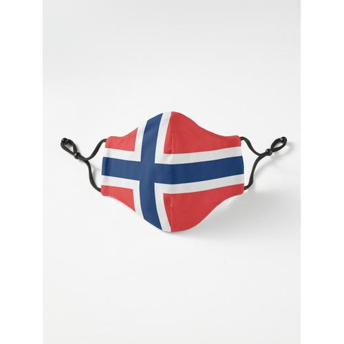 Norwegische Flagge Norwegischer Patriot Maske