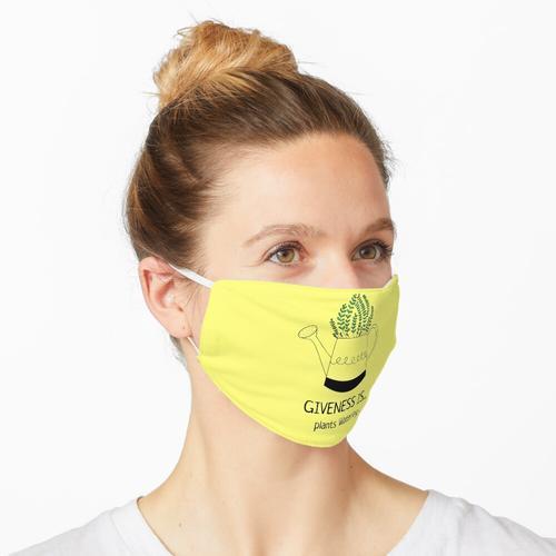 Giveness ist Pflanzenbewässerung Maske