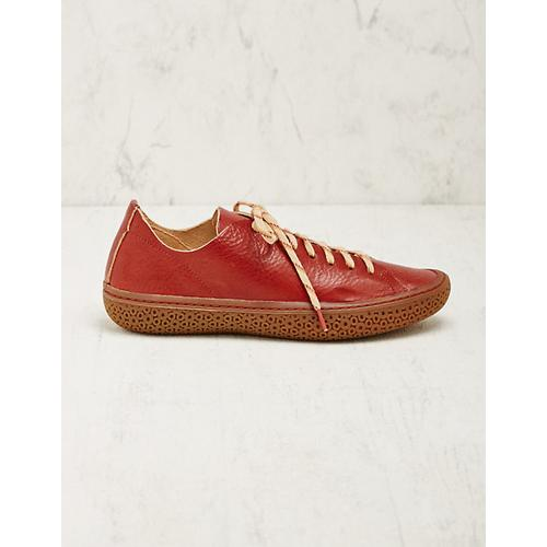 Think Damen Leder-Sneaker Liesel rot