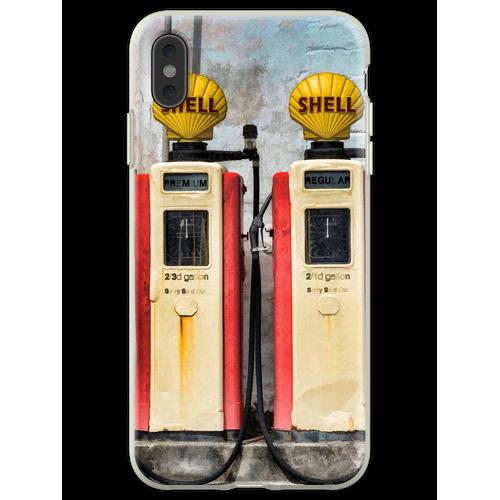 Alte Benzinpumpen Flexible Hülle für iPhone XS Max