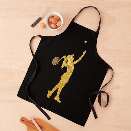 Mädchen-Tennisspielerin Gold, Goldene Tennisspielerin Schürze