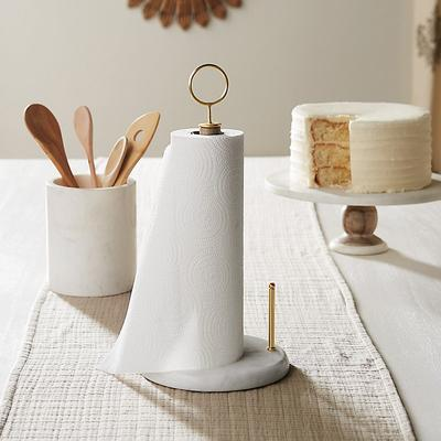 Hampton Marble & Wood Paper Towel Holder - Ballard Designs