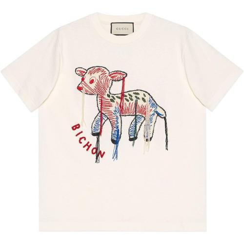 Gucci T-Shirt mit Rehkitz-Patch