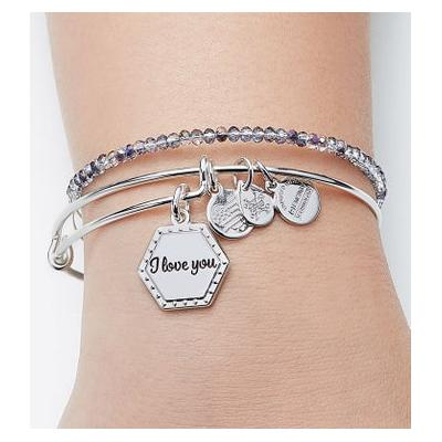 Alex & Ani Because I Love You Bangle with Crystal Bangle by 1-800 Flowers