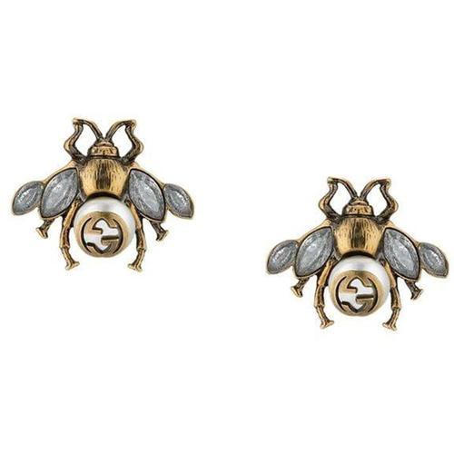 Gucci Bienen Ohrringe mit Kristallen