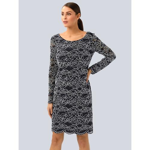 Alba Moda, Kleid mit eleganter Spitze, blau