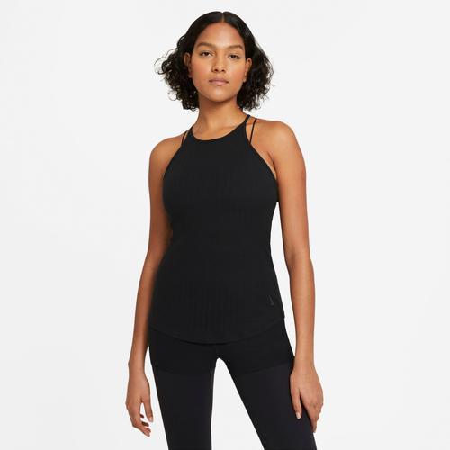 Nike Yogatop Yoga Tank Pointelle schwarz Damen Ärmellose Shirts Sweatshirts