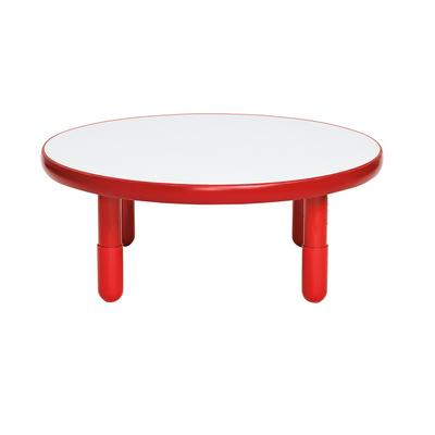 """""""BaseLine 36""""""""Dia Round Table - Candy Apple Red with 12"""""""" Legs - Children's Factory AB749DPR12"""""""