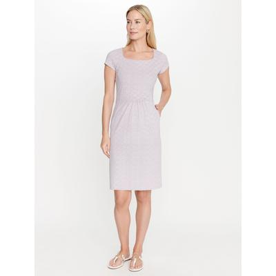 J.McLaughlin Women's Emma Dress in Neo Diamond Quilt White/Pink/Navy Blue, Size Extra Small