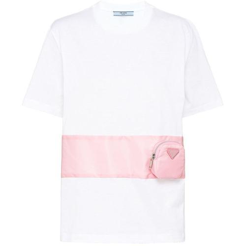 Prada T-Shirt mit aufgesetzter Tasche