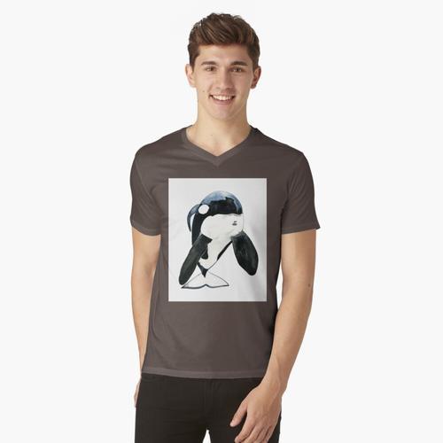 Keiko der Orca t-shirt:vneck
