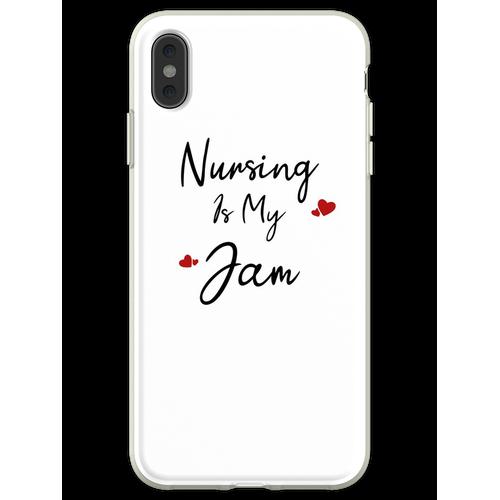 Krankenpflege ist mein Jam Krankenpflegeschule T-Shirt Krankenpfleg Flexible Hülle für iPhone XS Max