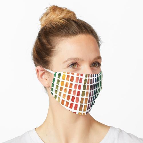 Aquarell Rainbow Pallete Maske
