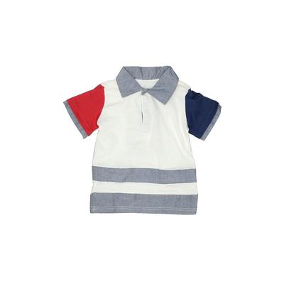Z Boys Wear Short Sleeve Polo Shirt: White Tops - Size 24 Month