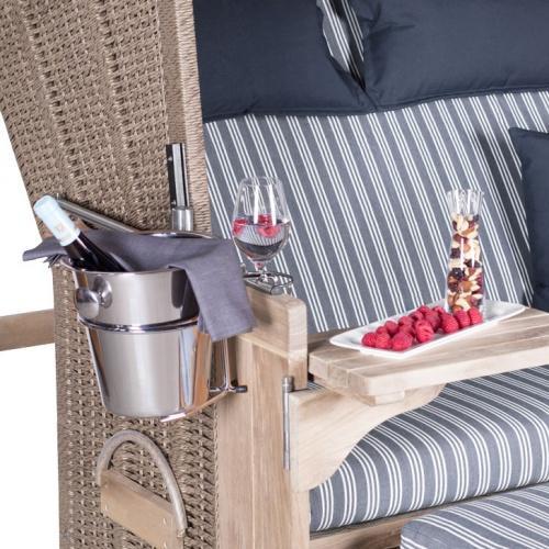 Champagnerkühler für Strandkörbe