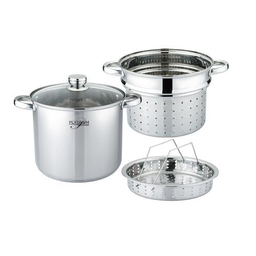 Platinum 4 tlg. Spaghetti Topf Edelstahl Nudeltopf/ Pasta Topf/mit Sieb
