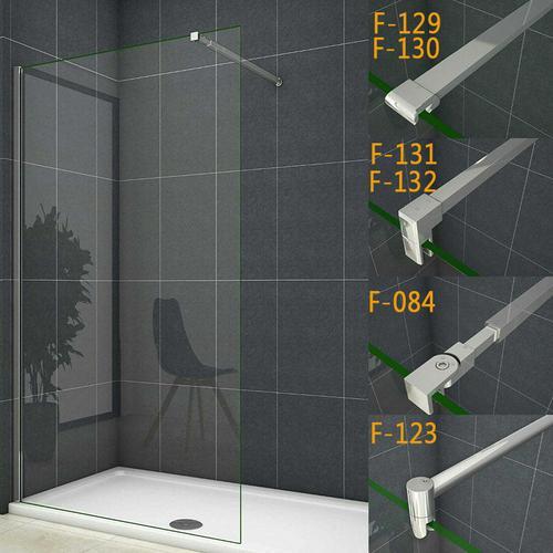 50x200cm walk in +90cm für 6-8mm Glas (F-129) Stabilisierungsstange