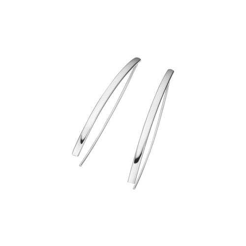 Smart Jewel Paar Ohrhaken »längliche Form, Silber 925«