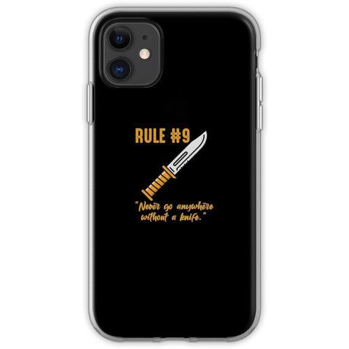 Gibbs Regel Nr. 9 (immer ein Messer tragen) Flexible Hülle für iPhone 11