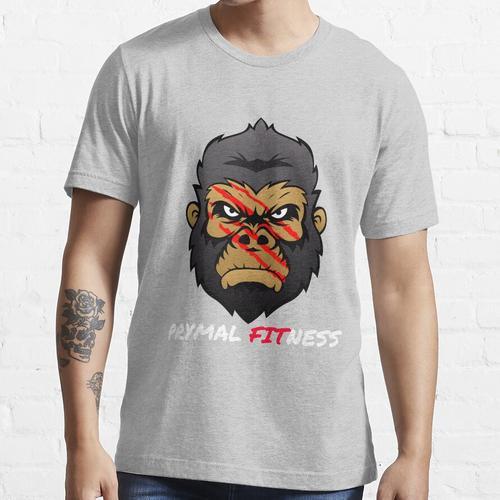 Prymal Gorilla - White Font Essential T-Shirt