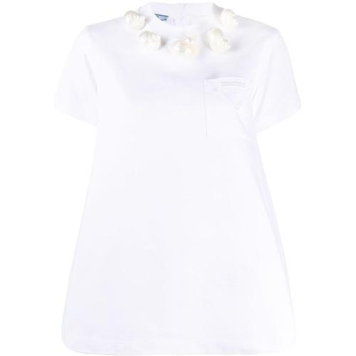 Prada T-Shirt mit Muscheln