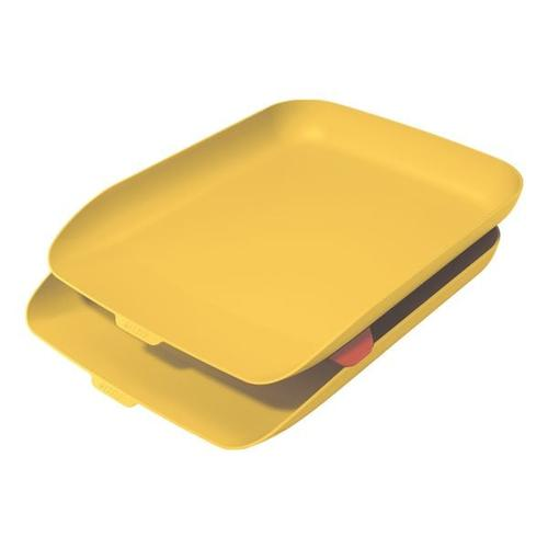 Briefkorb »Cosy« 2er-Set gelb, Leitz, 27.4x8.1 cm