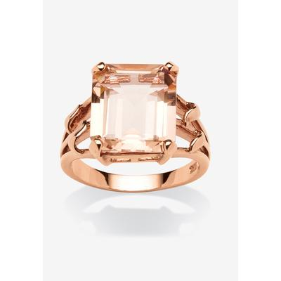 Plus Size Women's Rose Gold-Plated & Sterling Silver Cocktail Ring by PalmBeach Jewelry in Rose (Size 7)