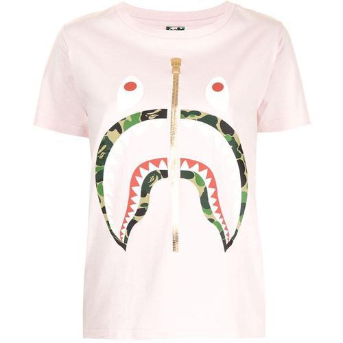 A Bathing Ape T-Shirt mit Haifisch-Print