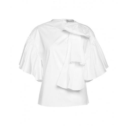 Red Valentino Damen Bluse mit Schleifendetails Weiß
