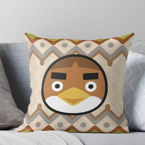 ANCHOVY ANIMAL CROSSING Throw Pillow