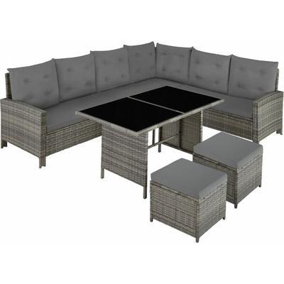 Barletta Rattan Garden Furniture Set - rattan garden furniture set, rattan garden furniture, lounge