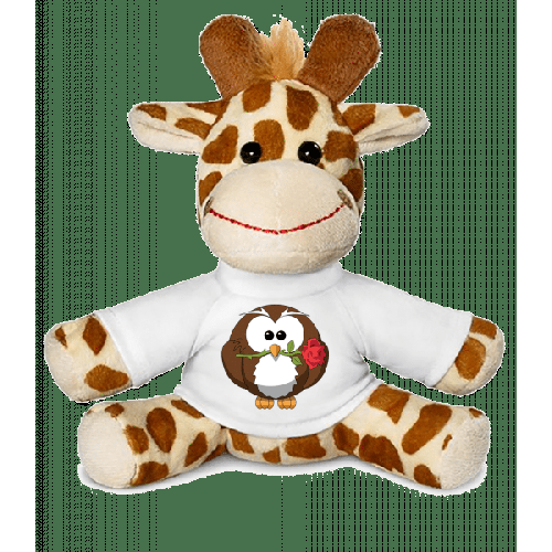 Valentinstag Eule - Giraffe